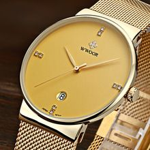 WWOOR Men Watches Top Brand Luxury Ultra Thin Quartz Casual Wristwatch Stainless Steel Analog Quartz Watch Men's Relojes Hombre(China (Mainland))