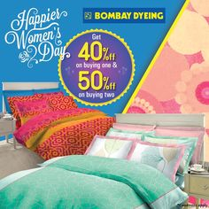 : #BombayDyeing celebrates the spirit of womanhood. Avail exclusive offer at the store on 3rd floor. Offer valid till 8th March at #ForumCourtyard