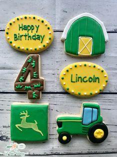 49 Super ideas for farm truck cake john deere tractors Tractor Birthday Cakes, 3rd Birthday Cakes, Farm Birthday, Birthday Cookies, Third Birthday, Birthday Ideas, Tractor Cookies, Farm Cookies, Cute Cookies