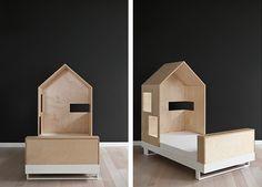 Kutikai Toddler Roof Bed - Birch Wood