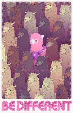 the pink alpaca? Alpacas, Llamas Animal, Alpaca Drawing, Pink Sheep, Llama Print, Cute Llama, Llama Llama, Cute Wallpapers, Amazing Art