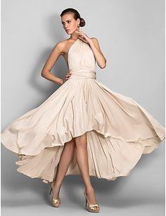 Lanting Mix&Match Convertible Dress Asymmetrical Jersey Sheath/Column Dress (633752) 2016 - $79.99