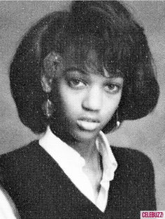 Tyra Banks, pictured in 1988 during her freshman year at Immaculate Heart High School in Los Angeles. Celebrities Then And Now, Young Celebrities, Beautiful Celebrities, Celebs, Beautiful Women, Celebrity Yearbook Photos, Celebrity Kids, Celebrity Pictures, Natalia Vodianova