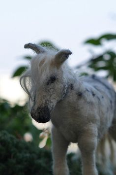 needle felted white horse by daria.lvovsky, via Flickr