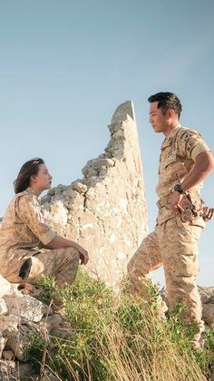 """Descendants of the Sun """"protecting you from the sunlight exposure""""  ><"""