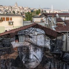 Giant Street Portraits Reveal the Elderly Faces of Istanbul