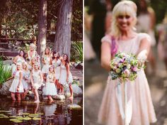 beautiful wedding party photo with water reflection Garden Party Wedding, Wedding Fun, Forest Wedding, Rose Wedding, Dream Wedding, Wedding Ideas, Beautiful Bridesmaid Dresses, Lake Arrowhead, Platinum Wedding