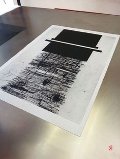 Jacqueline Aust | dry point and carborundum on plastic plate | Art Print Residence