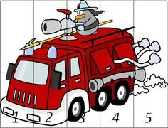 Cartoon Trucks SlidePlay this slide puzzle games of cartoon trucks. It's include 3 images and 3 modes to play.Use mouse to play this games. Fire Truck Games, Fire Trucks, Teaching Kids, Kids Learning, Transportation Theme, Truck Engine, Maths Puzzles, Fire Safety, Fire Engine