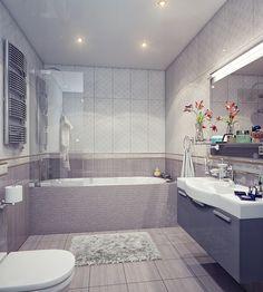 Fabulous bathroom design with gray color... | Visit : roohome.com  #bath #bathroom #creative #amazing #awesome #gorgeous #fabulous #unique #simple
