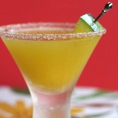 yellow watermelon margarita