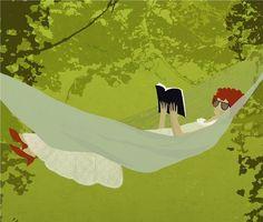 Weekend… enjoyed reading / Fin de semana… disfrutamos de la lectura (ilustración de Sol Undurraga)