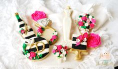Kate Spade inspired bridal shower cookies by: The Sweet Alley