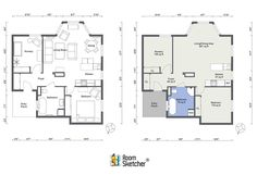 With 2D Floor Plans you get a clean and simple overview of a real estate property or home design project. They are the perfect starting point for buying and renovating a home. Learn how you can create floor plans quickly and easily on your PC, Mac or tablet with RoomSketcher Home Designer. #floorplan #floorplans #floorplantool #floorplanapp