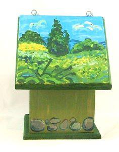 Faux Van Gogh.  One of my hand painted birdhouses on BestNestHomeGoods.com