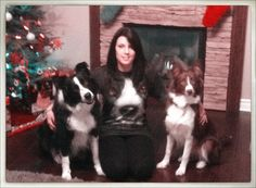 Me with my fur babies (Seth & Molly) and my border collie T-shirt my husband bought me for Christmas ;) (I know...I'm a geek!)