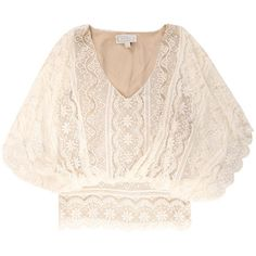 Beyond vintage tops IVORY ($235) ❤ liked on Polyvore featuring tops, blouses, shirts, blusas, vintage, beyond, ivory, ivory lace blouse, ivory shirt and lace blouse