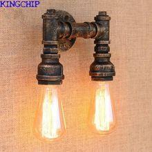 Neues Design 4 Farbe Eisen Wasserleitung Vintage Wandleuchtesteampunk Rohr  Wandleuchte 2 Lampen Für Flur Schlafzimmer Wohnzimmer Bar Cafe  #LampWohnzimmer # ...