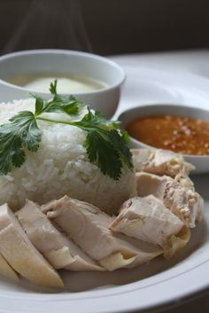 How to Make Khao Man Gai ข้าวมันไก่: Thai Version of Hainanese Chicken and Rice via shesimmers.com.
