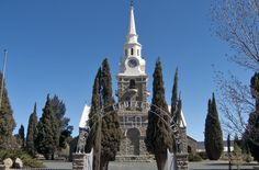 The church in Sutherland, a quiet town known for stars and sheep farming in the Northern Cape, South Africa.
