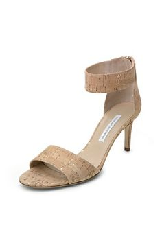 Kinder Cork Foil Sandal In Natural @DVF I need these in my life pronto!