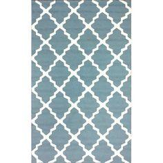 Found it at Wayfair - Homestead Light Blue Lannah Trellis Geometric Area Rug