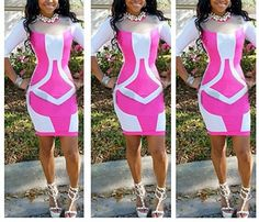 Sexy Bandage Dresses Vintage Geometric Patchwork Dresses Full Sleeve Bandage Bodycon for Women Party Clubwear Summer Dresses 2014, Casual Summer Dresses, Party Dresses For Women, Club Dresses, Casual Dresses For Women, Sexy Dresses, Formal Dresses, Plus Size Bodycon Dresses, Bodycon Dress With Sleeves