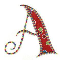 Curly Q Applique Alphabet 4x4 | Alphabets | Machine Embroidery Designs | SWAKembroidery.com Designs by JuJu