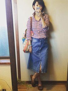 70年代だとジェーンバーキンみたいなデニムの着こなししたいなぁ ZARAセール購入デニムスカートで70年代カントリー風コーデアイテム 7月21日