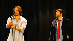 Jared Padalecki and Misha Collins NJ Con Breakfast (11/12) - Jared on how he met Genevieve
