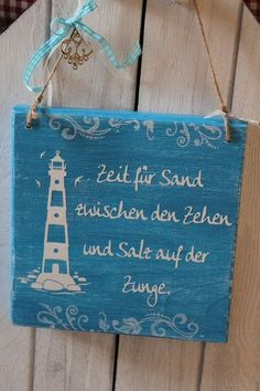 Decorative objects - sign wood saying sea ahoy chalky - a designer piece by In . Decorative objects – sign wood saying sea ahoy chalky – a designer piece by InasNordlichter on Watercolor Sea, Diy Crafts To Do, Woodland Party, Decorative Objects, Modern Decor, Wood Signs, Hand Lettering, Creations, Etsy