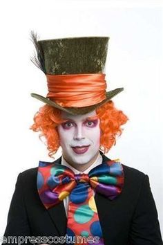 Top Hat Green Mad Hatter Alice in Wonderland Costume Theme Party