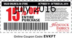 Hancock Fabrics Coupons Ends of Coupon Promo Codes JUNE 2020 ! On in Baldwyn, crafting and fabrics based Hancock Mississippi. Store Coupons, Grocery Coupons, Dollar General Couponing, Coupons For Boyfriend, Hancock Fabrics, Coupon Stockpile, Free Printable Coupons, Extreme Couponing, Coupon Organization