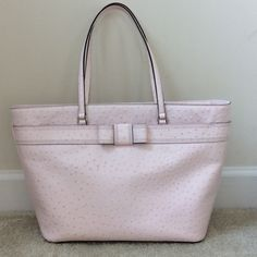 """Kate Spade Medium Harmony Valencia Road tote Kate Spade Medium Harmony Valencia Road in Ballet Slipper (light pink). Gorgeous tote Top zip closure. One day net riot zip pocket, 2 slip pockets. Hidden zippered pocket on the outside behind the front vow. Signature Kate Spade interior lining. Gold toned KS name plate on the back. Measures approx 19 3/4"""" x 11 1/2"""" x 6 1/4"""". Approx 9 1/2"""" shoulder drop. NWT, never carried.  #313 kate spade Bags Totes"""