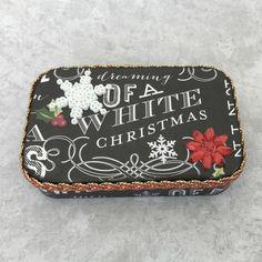 Altered Altoid Tin White Christmas Snowflake by JudithAnnDesigns