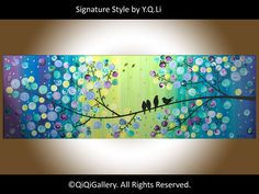 36 Original Modern Abstract Heavy Texture Impasto by QiQiGallery