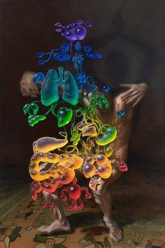 christian-rex-van-minnen-paintings-interview-designboom deez mothafucking chakraz | 2015 | oil/linen | 48×72