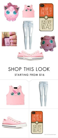 """""""cx"""" by ilikebandsk ❤ liked on Polyvore featuring O-Mighty, Nintendo, Yves Saint Laurent, H&M, Converse, nails, Pink, converse, Pokemon and jiggly"""
