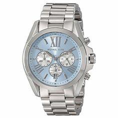Michael Kors Women's MK6099 - Bradshaw Silver/Blue Watch Michael Kors smile.amazon.com/...
