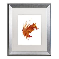 "Trademark Art ""Plattensee Fox"" by Robert Farkas Framed Graphic Art"