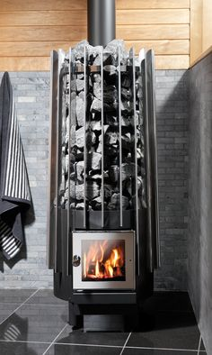 Rocher Wood sauna stove by Helo modern style of the oven