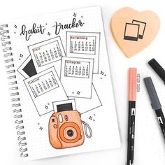 If you like Polaroids, why not try out these 20 polaroid bujo spread for you own bullet journal and decorate it out with the various kinds of bujo spreads! Bullet Journal School, Bullet Journal Inspo, Bullet Journal Banner, Bullet Journal Tracker, Bullet Journal Notebook, Bullet Journal Aesthetic, Bullet Journal Themes, Bullet Journal Spread, Bullet Journal Layout
