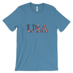 USA Flag Font T-shirt