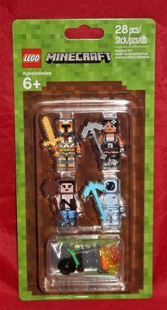 LEGO Minecraft Skin Pack 1 Figur 3 Minifig Creeper Steve Alex Hülle 853609