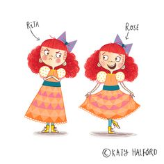 Colour Collective- Twinning #katyhalford #illustration #kidlit #characterdesign www.katyhalford.co.uk #childrensbooks