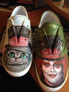 My Tim Burton Alice in Wonderland tennis shoes.