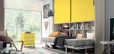 Ventajas e ideas para incorporar las camas abatibles - https://www.decoora.com/ventajas-e-ideas-para-incorporar-las-camas-abatibles/
