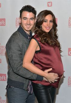 "Singer #KevinJonas and wife #DanielleJonas attend the ""Amazing Baby Days"" app launch event at #Path1Communications in New York on Jan. 7, 2014"