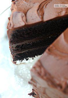Pastel de chocolate #recetas #postres #chocolate