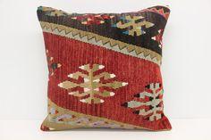 Decorative Kilim Pillow Cover 18 x 18 Geometric by kilimwarehouse
